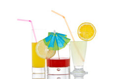 Glasses with beverages Royalty Free Stock Photography