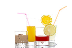Glasses with beverages Royalty Free Stock Images