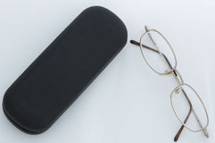 Glasses and black case Stock Image