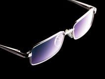 Glasses on black Stock Image