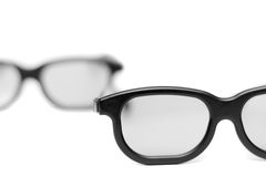 Glasses with a black frame Stock Photography