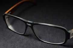 Glasses. Black frame glasses clean and transparent Royalty Free Stock Photo