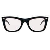 Glasses. Black glasses isolated on white. Clipping path lincluded Stock Image