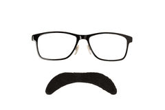 Glasses and Black Moustache Royalty Free Stock Image