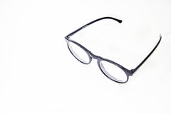 Glasses. Black glasses on a white background Royalty Free Stock Photos