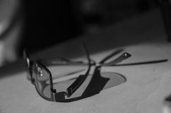 Glasses  black and  white Stock Photos