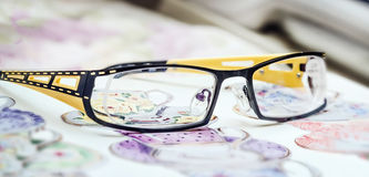 Glasses black and yellow Royalty Free Stock Image