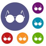 Glasses for blind icons set Stock Image