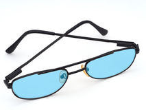 Glasses with blue lenses, visual stress etc. Stock Photography