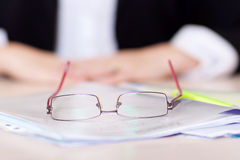 Glasses on blurred background Stock Images