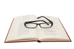 Glasses on a book Royalty Free Stock Image
