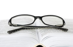 Glasses and book Royalty Free Stock Photo