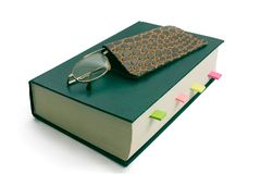 glasses on book Royalty Free Stock Photography