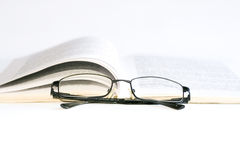 Glasses and book. Image of glasses and book Royalty Free Stock Photography