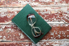 Glasses with book Royalty Free Stock Photo