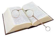 Glasses and book Royalty Free Stock Photos