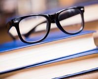 Glasses and a book Stock Photography