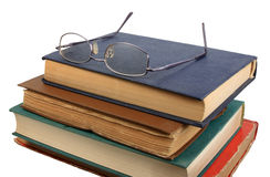 Glasses and books. Stock Images