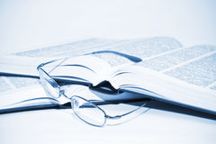 Glasses and books Royalty Free Stock Images