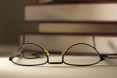 Glasses with Books Stock Photos