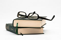 Glasses on books Royalty Free Stock Image