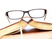 Glasses and Books Royalty Free Stock Photography