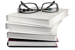 Glasses on the books Royalty Free Stock Image