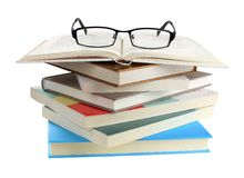 Glasses and books Royalty Free Stock Photo