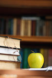 Glasses on the books Royalty Free Stock Photos