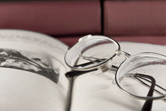Glasses and books Royalty Free Stock Image