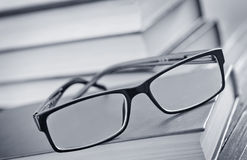 Glasses and books Royalty Free Stock Photos