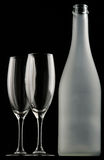 Glasses & Bottle Royalty Free Stock Photography
