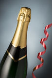 Glasses and bottle of champagne, serpentine Stock Image