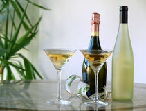 Glasses and bottles Royalty Free Stock Photos