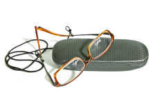 Glasses and box Royalty Free Stock Image
