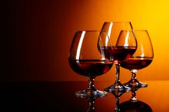 Glasses of brandy . stock photo