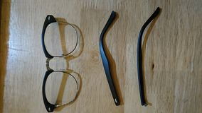 Glasses. Broken on the table Stock Photography