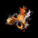 Glasses burning Royalty Free Stock Images