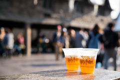 Glasses of Butterbeer Stock Photo