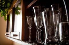 Glasses cabinet stock photo