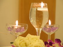Glasses of candles Royalty Free Stock Images