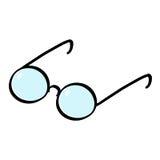 Glasses cartoon. Reading glasses illustration Royalty Free Stock Image