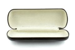 Glasses Case. Isolated Open Glasses case on white background Stock Image
