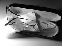 Glasses in Case Royalty Free Stock Images