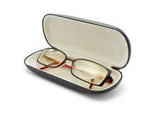 Glasses in case Stock Photos