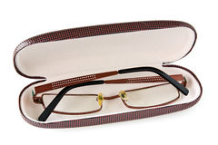 Glasses in the case Royalty Free Stock Images