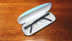 Glasses in case Stock Photo