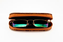 Glasses in the case Royalty Free Stock Photos
