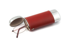 Glasses with case Royalty Free Stock Photography