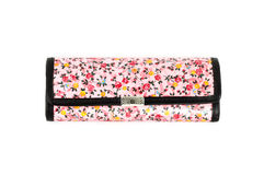 Glasses case with flower texture on white Royalty Free Stock Image